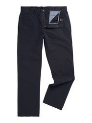 Linea Crouch Textured Casual Trousers Navy