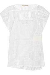Richard Nicoll Embroidered Tulle Top