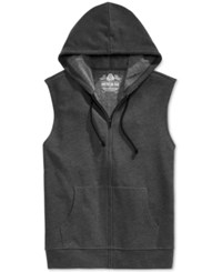 American Rag Men's Fleece Full Zip Hoodie Vest Only At Macy's Charcoal Heather