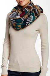 Lava Native American Stripe Scarf Green