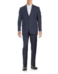 Lauren Ralph Lauren Two Piece Slim Fit Wool Suit Set Blue