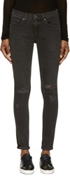 Rag And Bone Black Destroyed The Skinny Jeans
