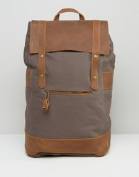 Forbes And Lewis Leather Rider Backpack In Gray Gray