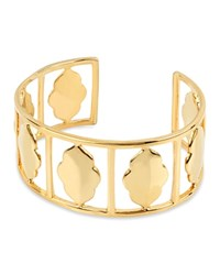 Charm And Chain Shiny Cuff Gold