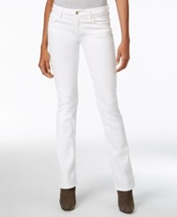 Guess White Wash Slim Bootcut Jeans Optical Brightener