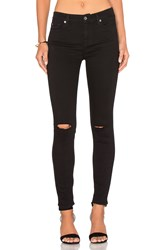 7 For All Mankind B Air Ankle Knee Hole Skinny Black