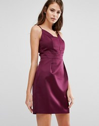 Oasis Satin Tulip Cami Dress Berry Purple