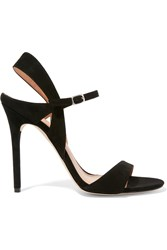 Halston Ainsley Suede Sandals Black