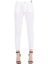 Monocrom Printed Cotton Denim Jeans