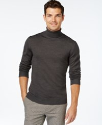 Vince Camuto Ribbed Wool Turtleneck Sweater Charcoal