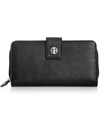 Giani Bernini Wallet Sandalwood Leather All In One Black