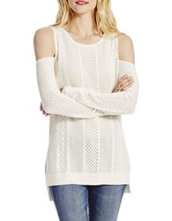 Jessica Simpson Knitted Long Sleeve Pullover White