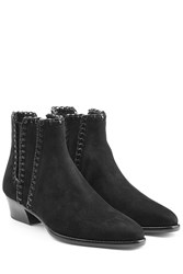 Michael Kors Collection Suede Ankle Boots Black
