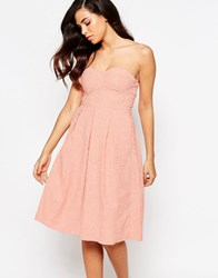Lashes Of London Rainbow Drop Midi Prom Dress Peach Pink