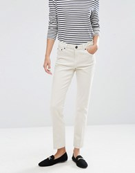 Asos Pencil Straight Leg Jeans In Stone Off White