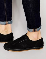 Fred Perry Table Tennis Canvas Plimsolls Black