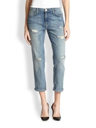 Current Elliott The Distressed Fling Slim Fit Boyfriend Jeans Super Loved Destroy