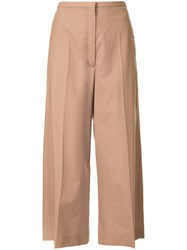 Christophe Lemaire Cropped Trousers Brown