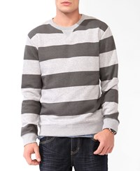 Forever 21 Heathered Rugby Stripe Pullover