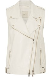 Mason By Michelle Mason Leather Vest White