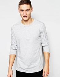 G Star G Star Long Sleeve Top Riban Grandad Fabric Placket In Gray Heather Gray Htr