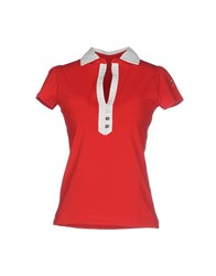 Cooperativa Pescatori Posillipo Topwear Polo Shirts Women Red