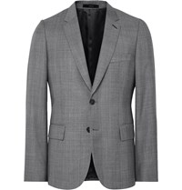 Paul Smith Grey Soho Slim Fit Checked Wool Suit Jacket Gray