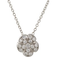 Linda Lee Johnson Women's Diamond And Platinum June Pendant Necklace No Color