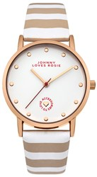 Johnny Loves Rosie Ladies Strap Watch