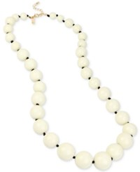 Inc International Concepts Iris X Gold Tone Long Beaded Statement Necklace Only At Macy's Ivory