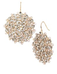 Kenneth Cole Topaz Crystal Woven Drop Earrings Gold