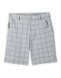 Under Armour Forged Plaid Golf Shorts Grey