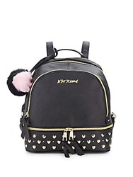 Betsey Johnson Studded Zip Around Backpack Black