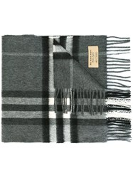 Burberry Giant Icon Check Scarf Grey