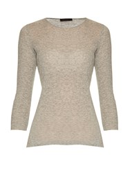 The Row Aile Cotton And Cashmere Blend T Shirt