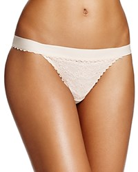 Heidi Klum Intimates Sheer Infinity Thong H37 1371 Cream Tan Retro Cream