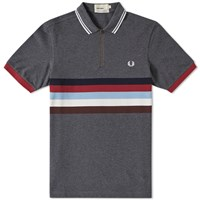 Fred Perry Bradley Wiggins Chest Stripe Polo Grey