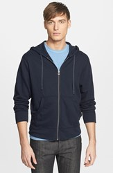 James Perse Men's Classic Zip Hoodie Deep Pigment