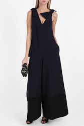 Merchant Archive Shoulder Tie Jumpsuit Black