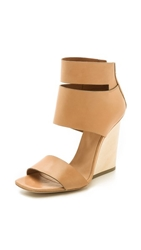 Vic Matie Wedge Sandals Camel Nude