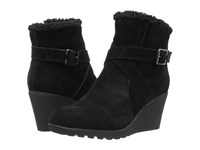 Hush Puppies Amber Miles Iiv Black Waterproof Suede Women's Pull On Boots