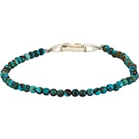 Suzanne Felsen Men's Beaded Bracelet Silver