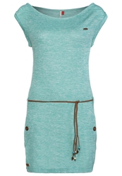 Ragwear Jumper Dress Lagoon Green Melange Mottled Turquoise