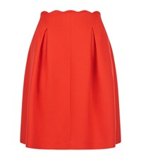 Claudie Pierlot Soline Scalloped Skirt Female Coral