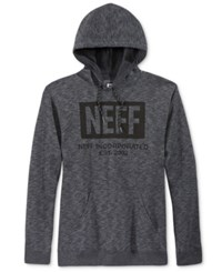 Neff Men's New World Graphic Print Hoodie Charcoal Heather