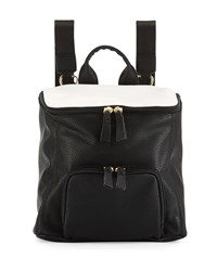 Neiman Marcus Hip Colorblock Zip Top Backpack Black Milk