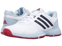 Adidas Barricade Court 2 White Collegiate Navy Ice Blue Women's Shoes