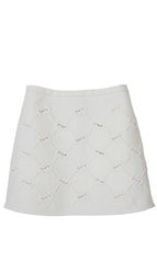 Tibi Lanyard Embroidery Mini Skirt