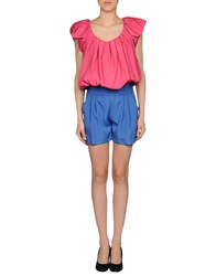 Hope Collection Short Overalls Fuchsia