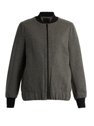 Lndr Scout Wool Blend Performance Bomber Jacket Grey